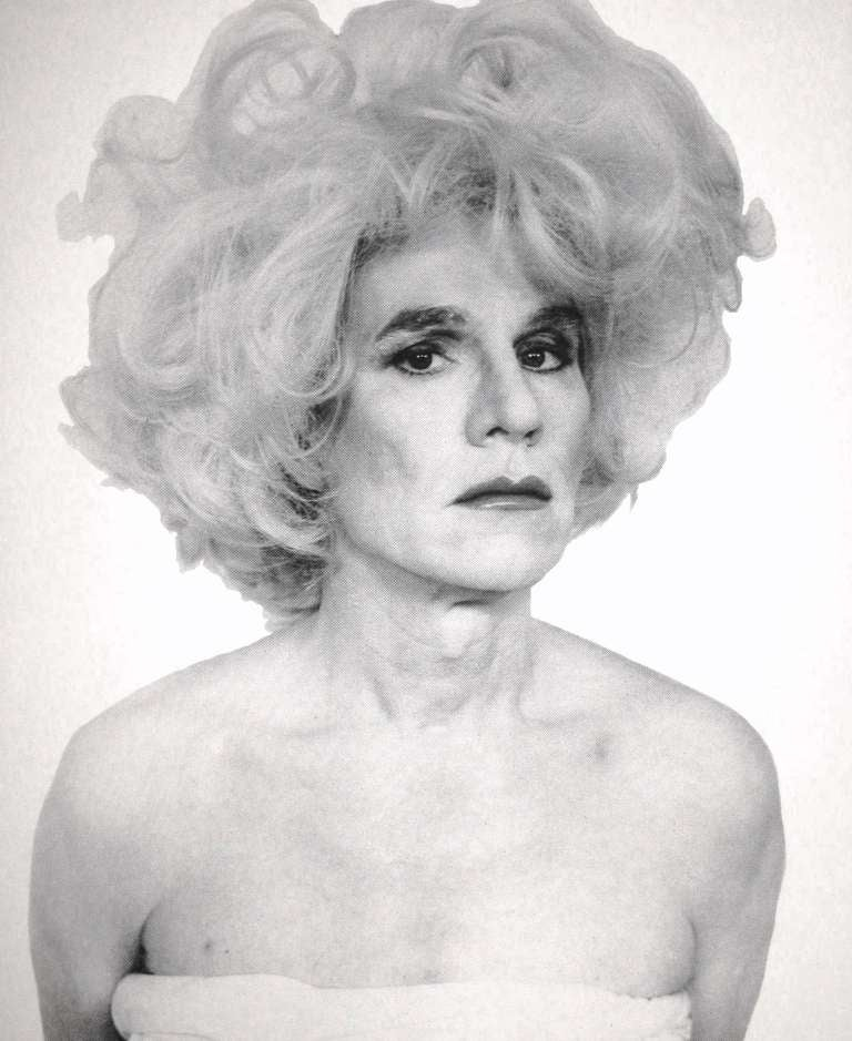 Five Screen Prints of Andy Warhol in Drag by Christopher Makos In Excellent Condition In Brooklyn, NY