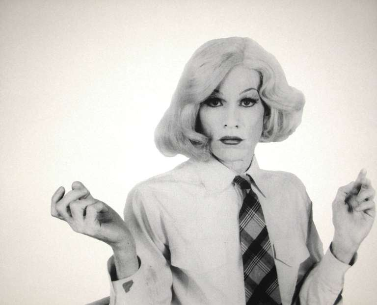 Five Screen Prints of Andy Warhol in Drag by Christopher Makos 1