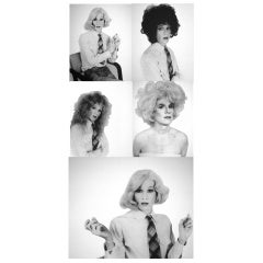 Five Screen Prints of Andy Warhol in Drag by Christopher Makos