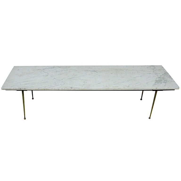 1960s Modern Italian Marble Coffee Table