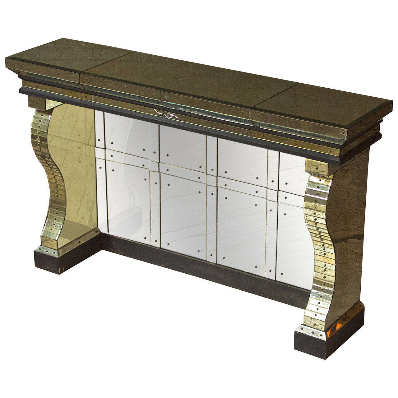 Mirrored Console in the manner of Serge Roche