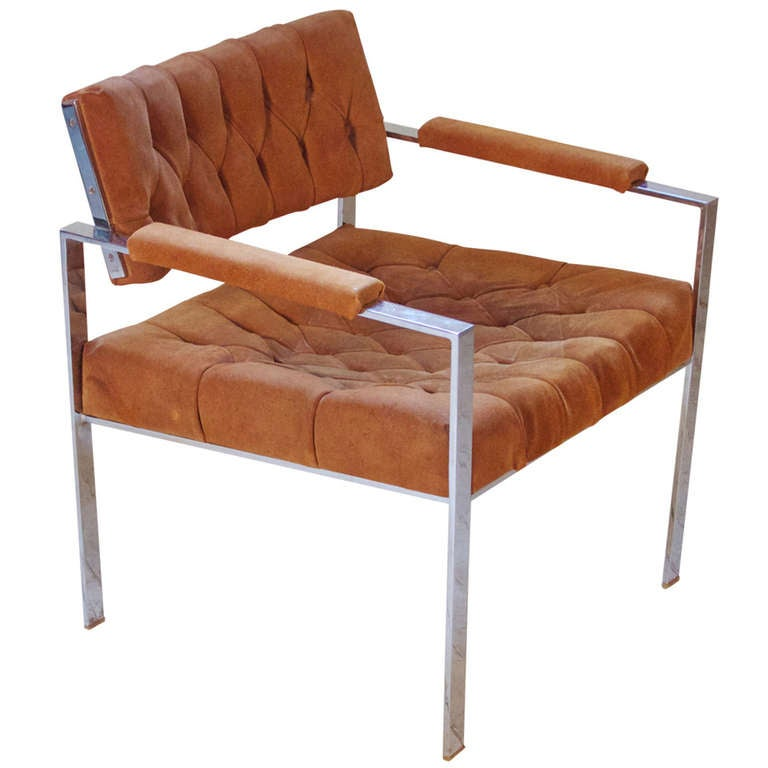 "Harvey Probber ""Flat Bar"" Lounge Chair"