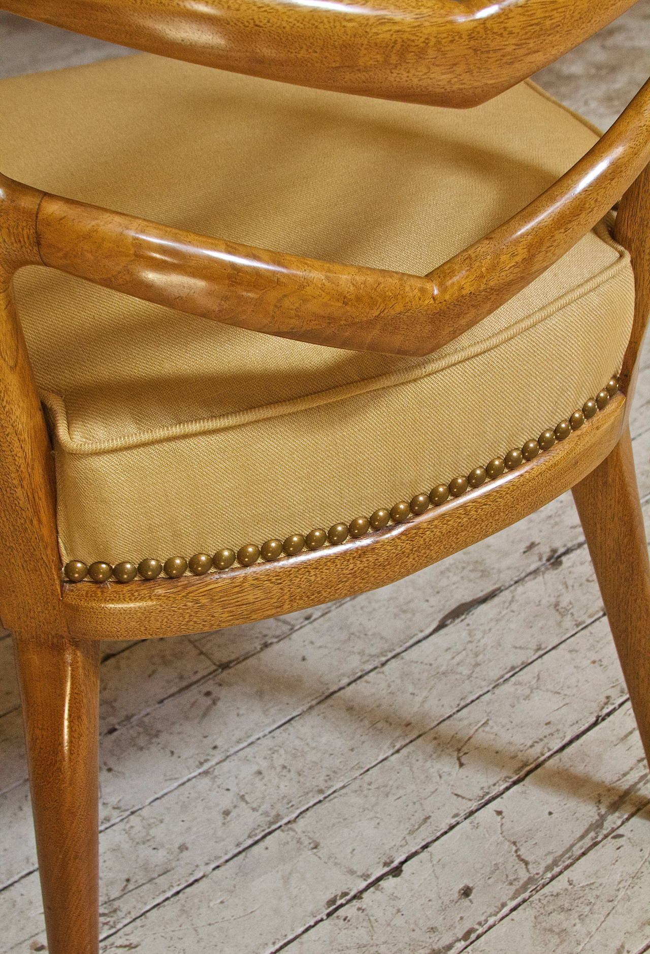 Hand-Carved Rare Set of Six Dining Chairs by Osvaldo Borsani