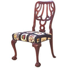 Single Georgian Style Side Chair in Cuban Mahogany