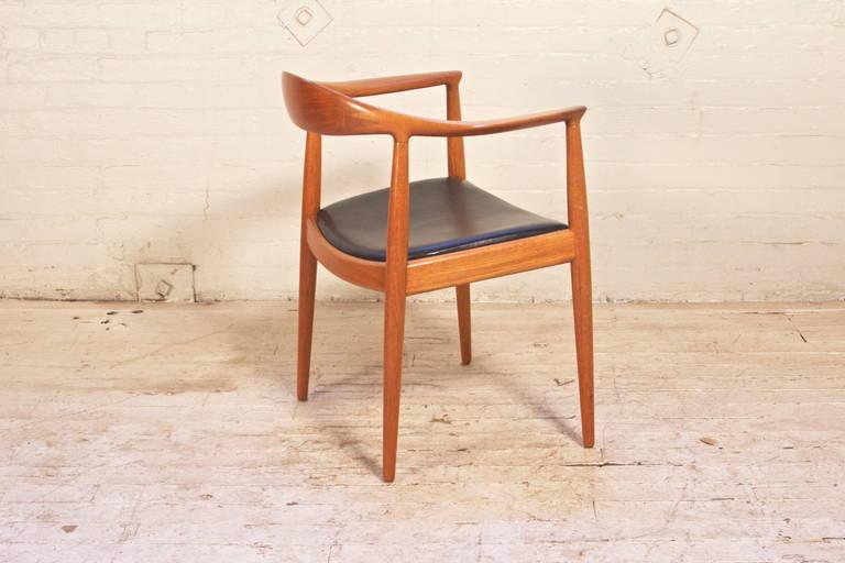 Hans Wegner Round Chair for Johannes Hansen In Good Condition In Brooklyn, NY