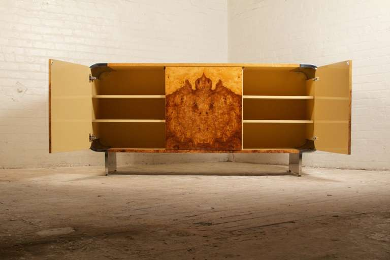 Late 20th Century Stunning Burlwood Sideboard by Pace Collection