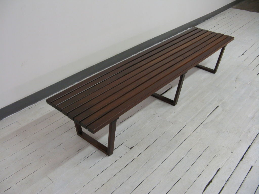 Teak Wood Bench At 1stdibs