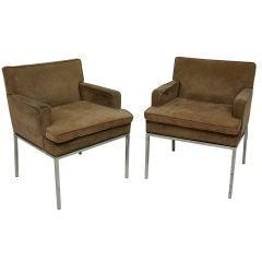Pair of Midcentury Club Chairs