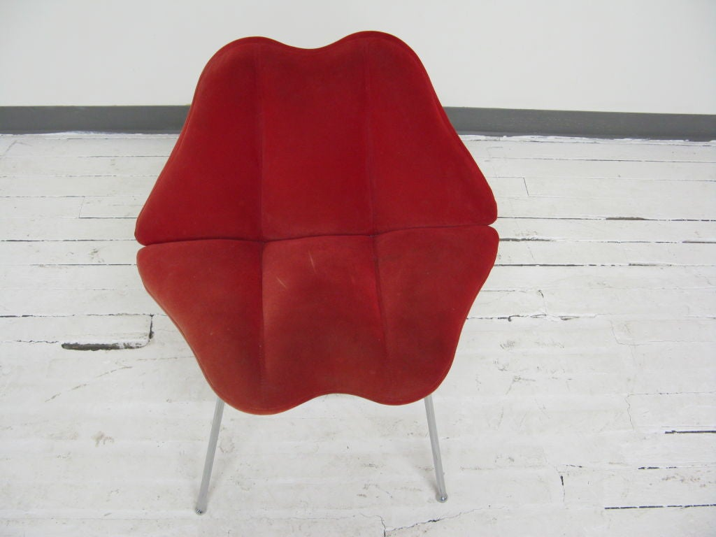 Baldwin Slipper Chair Marylin Monroe Lips Chair At 1stdibs