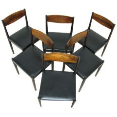 Set of 6  Danish Dining Chairs by Frem Rojle