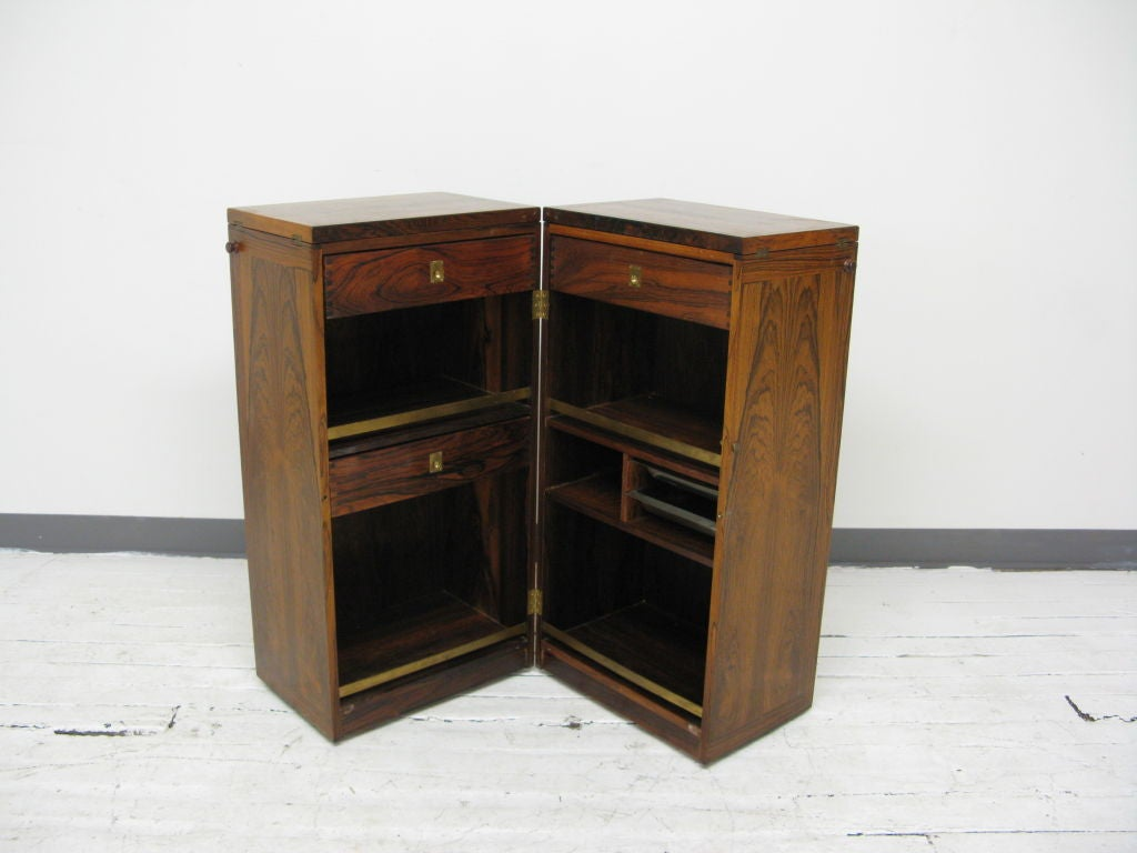 Folding dry bar cabinet at 1stdibs for Home dry bar furniture