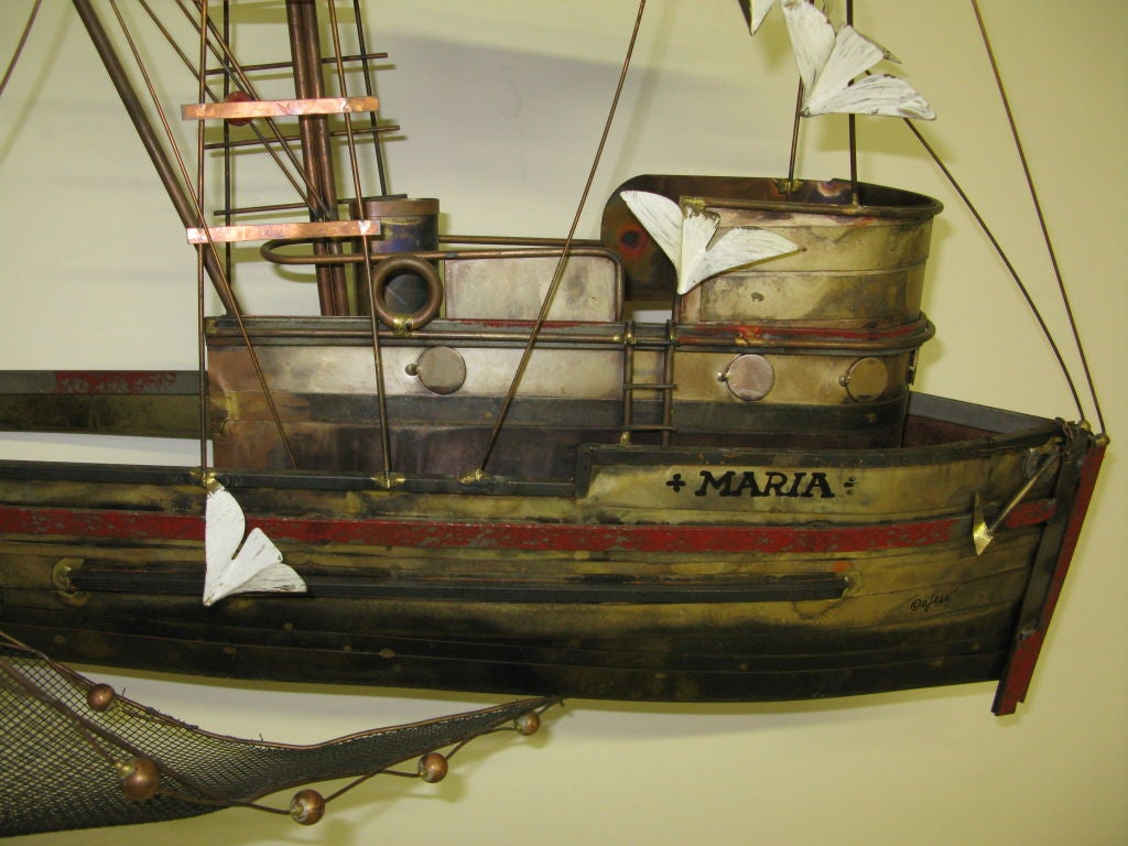 Late 20th Century C. Jere Wall Sculpture For Sale