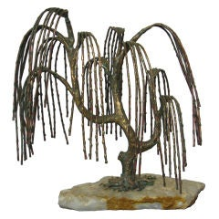 Weeping Willow Tree Sculpture Attributed to Brian Bijan