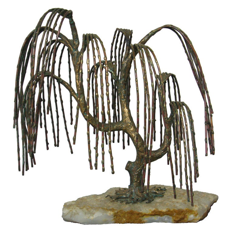 Weeping willow tree sculpture by c jere attr at stdibs