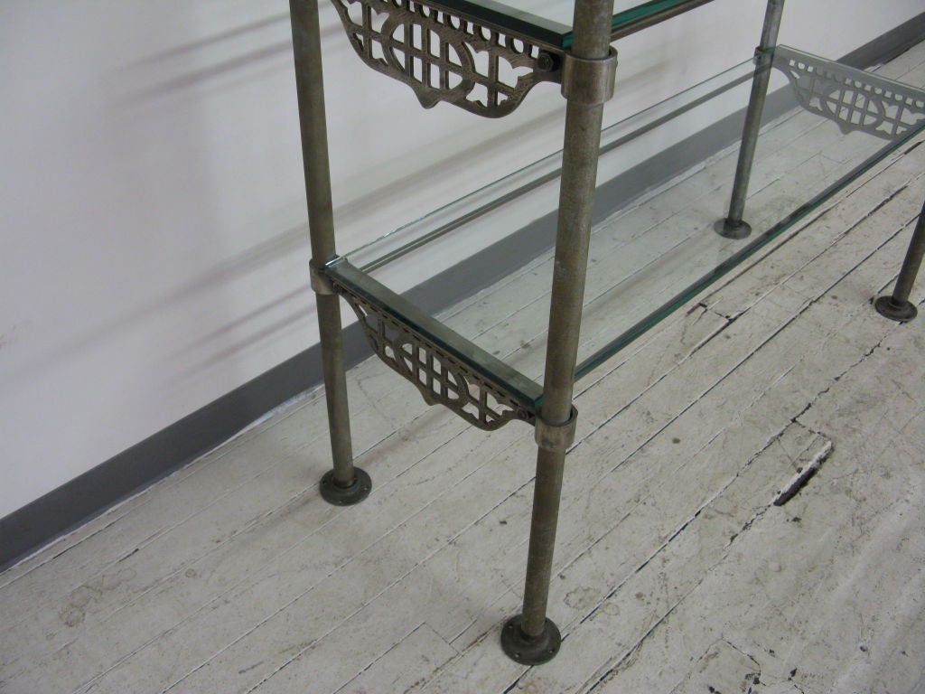 industrial metal etagere at 1stdibs. Black Bedroom Furniture Sets. Home Design Ideas