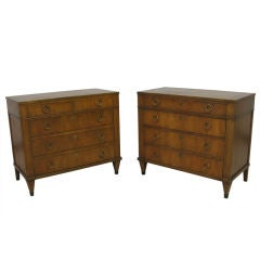 Pair of Bachelor Chest by Baker