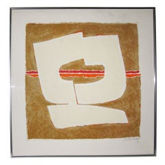 Abstract Signed Lithograph
