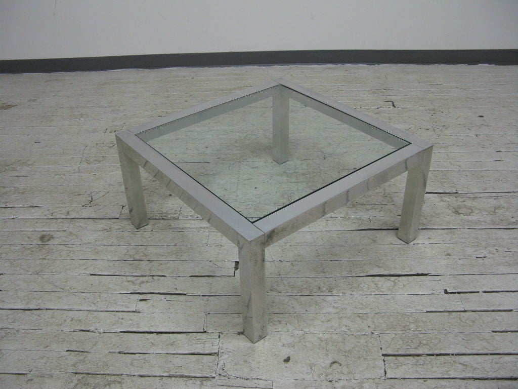 Modern Glass Top Cocktail Table At 1stdibs