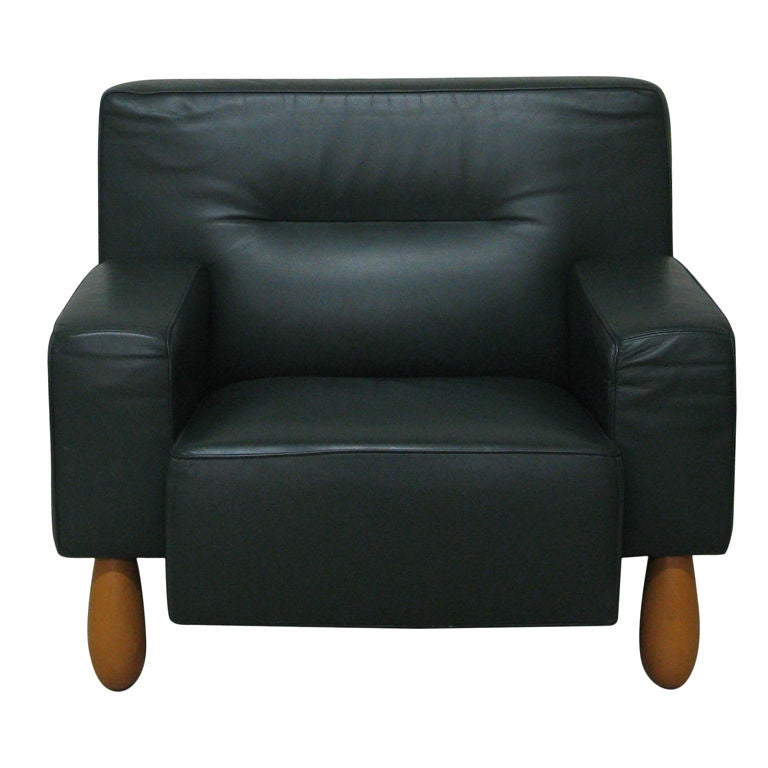 leather armchair by moroso at 1stdibs. Black Bedroom Furniture Sets. Home Design Ideas