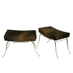Pair of French Metal Benches