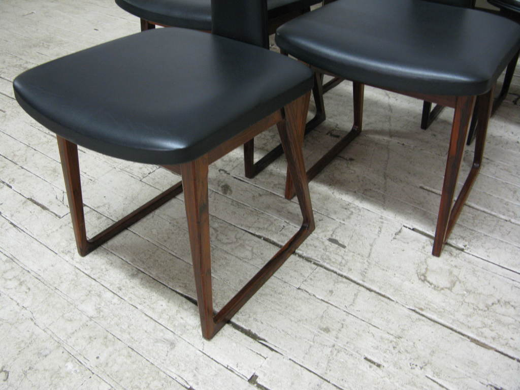 Set of 10 Dining Chairs by Arne Vodder In Good Condition In Brooklyn, NY