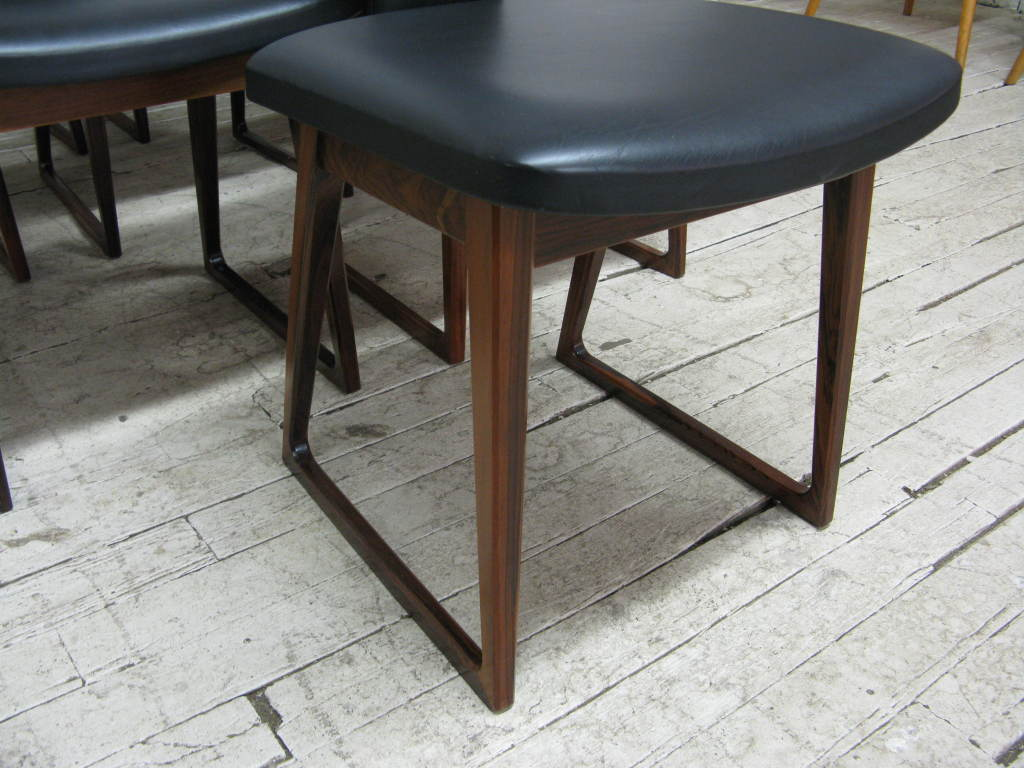 Mid-20th Century Set of 10 Dining Chairs by Arne Vodder