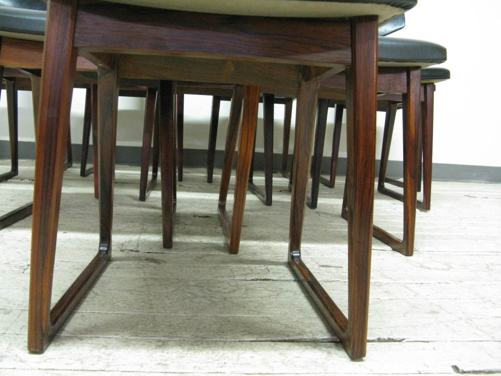 Set of 10 Dining Chairs by Arne Vodder 1