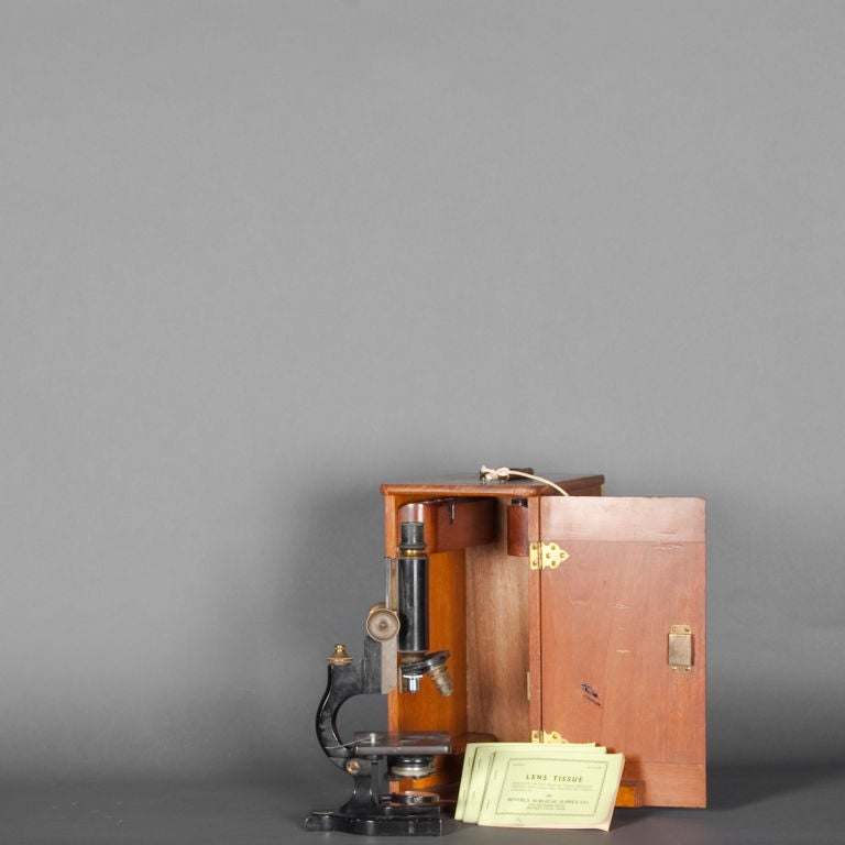 American Antique Monocular Laboratory Microscope by Spencer Lens Co.
