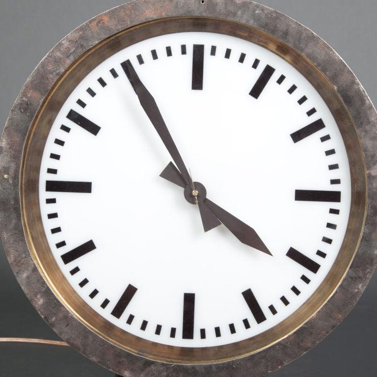 Illuminated Train Station Clock: double sided image 6
