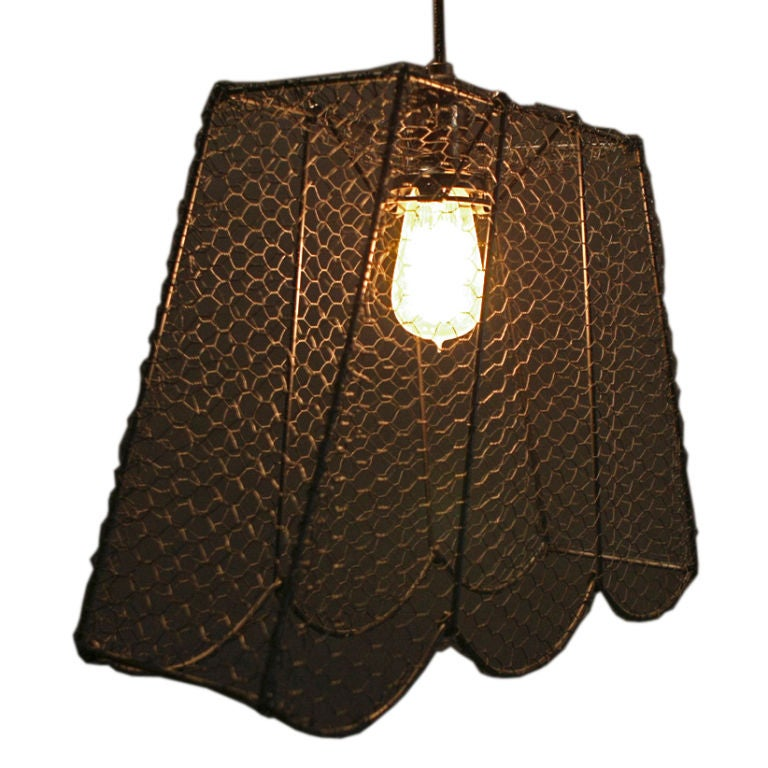 Wire Mesh Light Fixture At 1stdibs