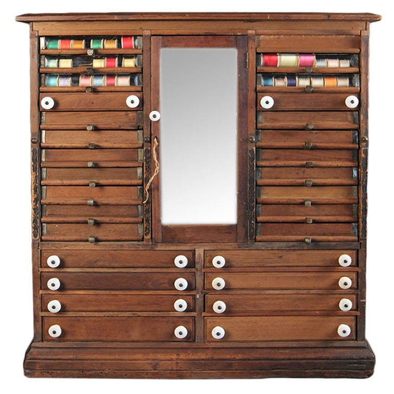 Vintage Spool Cabinet At 1stdibs