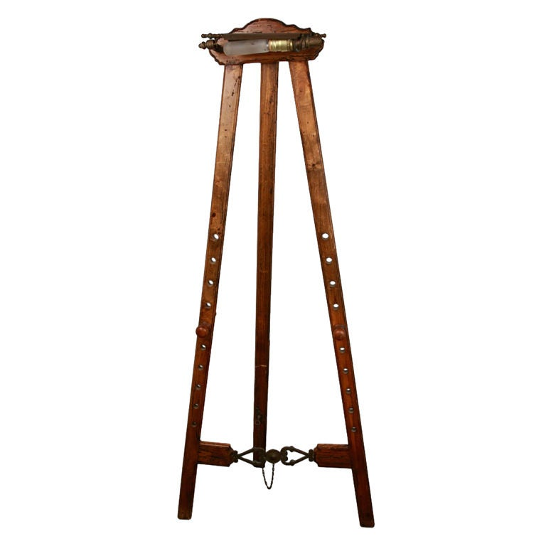 Antique British Painting Easel At 1stdibs
