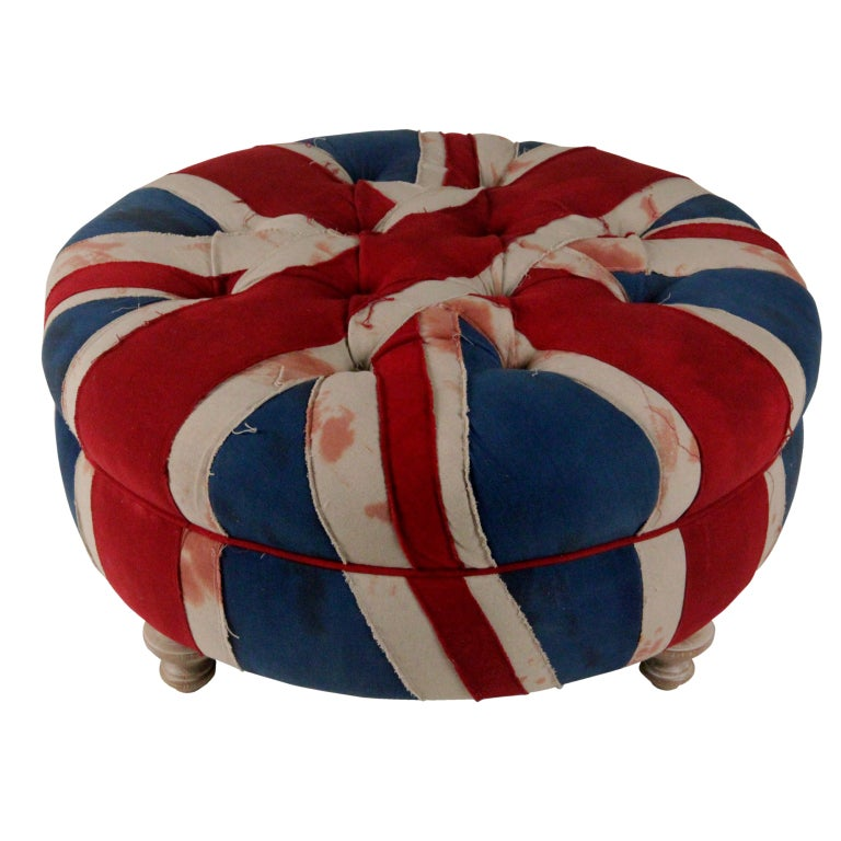 pouf drapeau anglais union jack. Black Bedroom Furniture Sets. Home Design Ideas