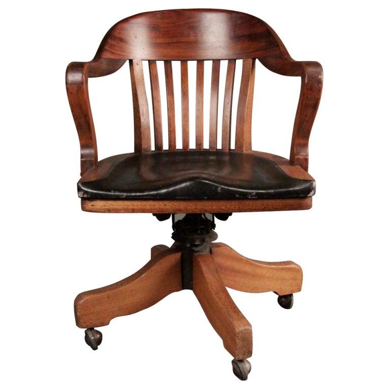 Swivel Banker Chair At 1stdibs