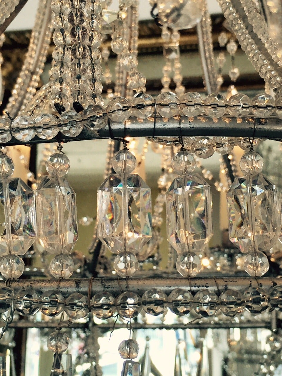 Early 20th Century Crystal Chandelier France At 1stdibs