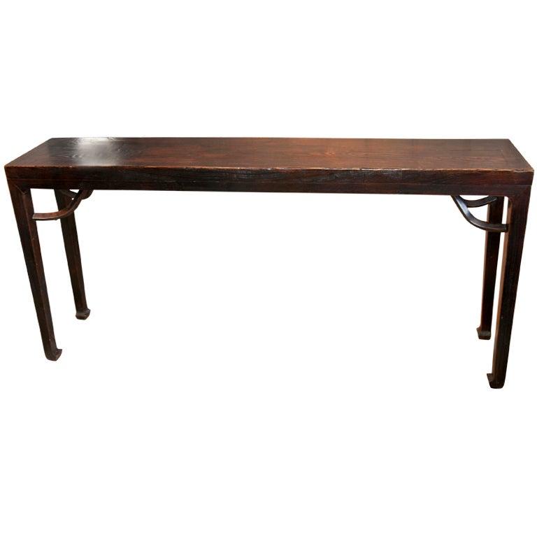 Ebonized chinese console table
