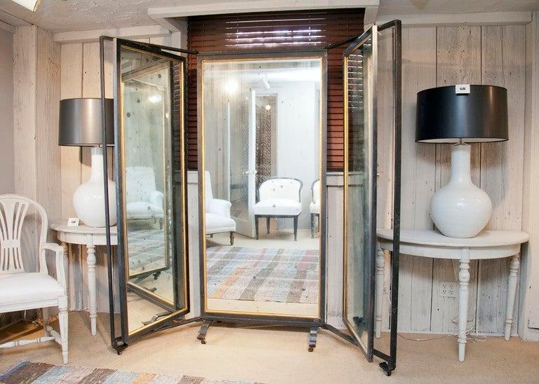 triple panel full length mirror at 1stdibs. Black Bedroom Furniture Sets. Home Design Ideas