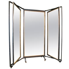 Triple Panel Full-Length Mirror