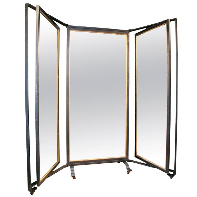 Triple Panel Full-Length Mirror At 1Stdibs-7692