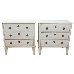 Pair of Gustavian-Style Commodes