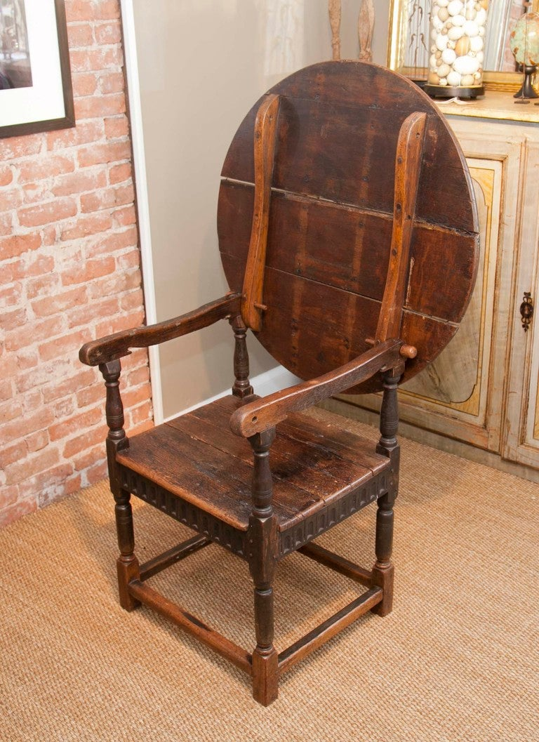 British Colonial Style Convertible Table Chair At 1stdibs