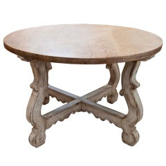 Regency Style Table with Scrubbed Pine Top