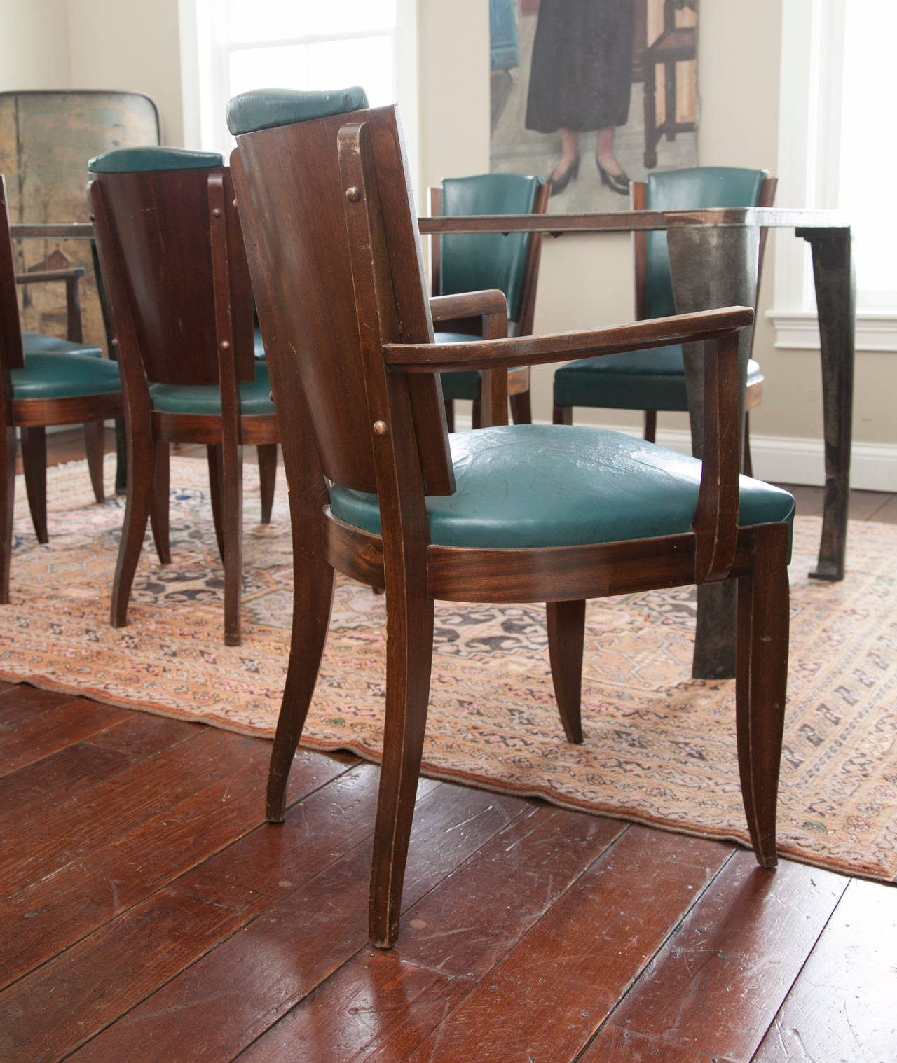 set of eight mid century dining room chairs for sale at 1stdibs
