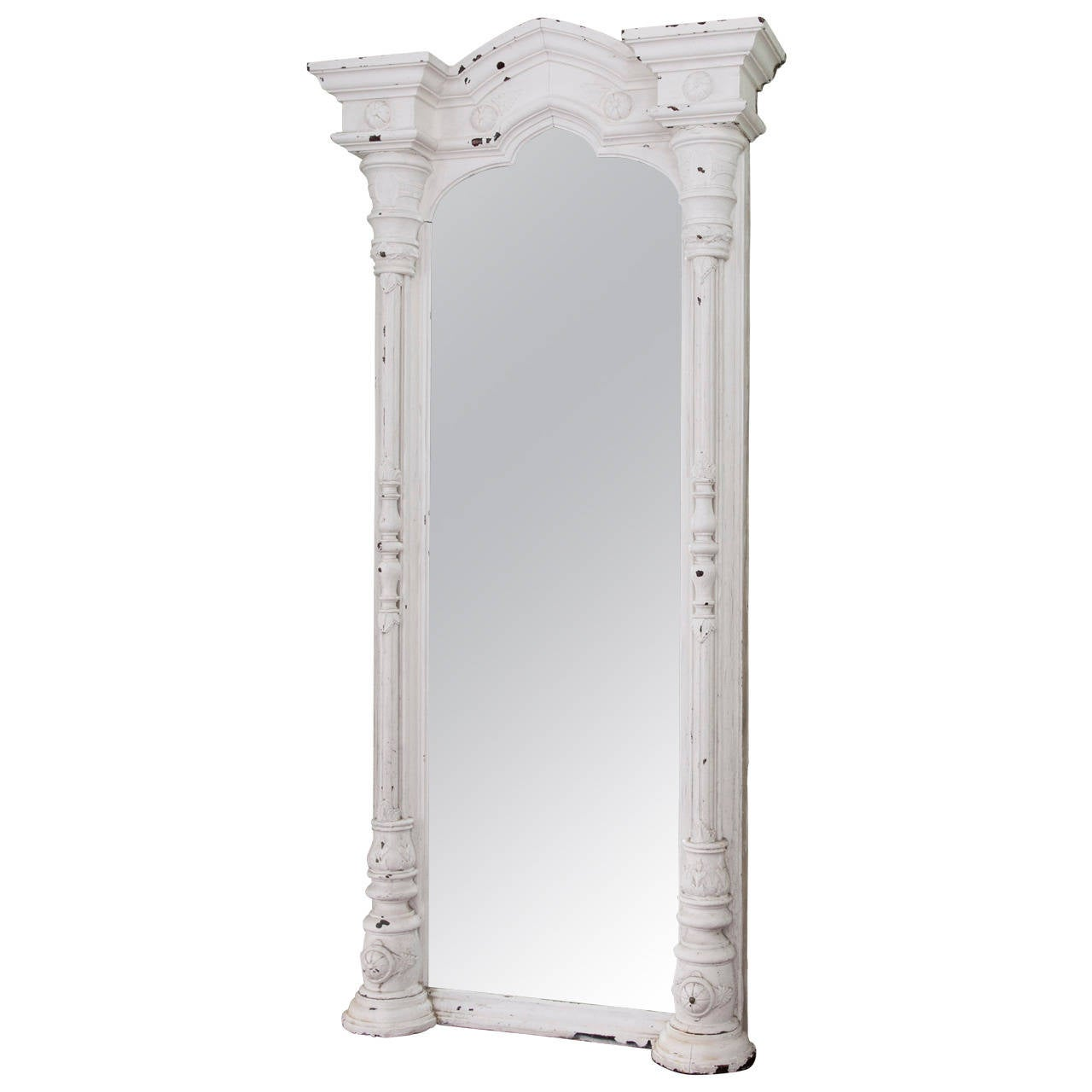 Monumental French Architectural Mirror