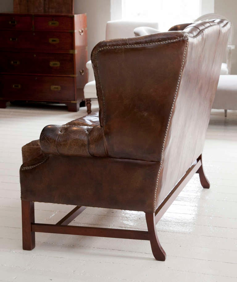 Leather Sofas Preston Lancashire: George III Style Leather Settee At 1stdibs