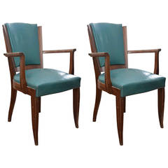 Set of Eight Mid-Century Dining Room Chairs