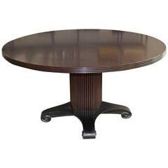 Angelo Donghia Vintage Ebonized Pedestal Table