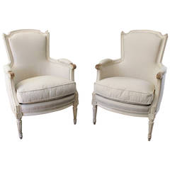 Pair of 19th Century France Bergeres