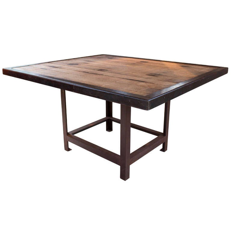 Handcrafted reclaimed wood dining table at 1stdibs - Handmade wooden dining tables ...