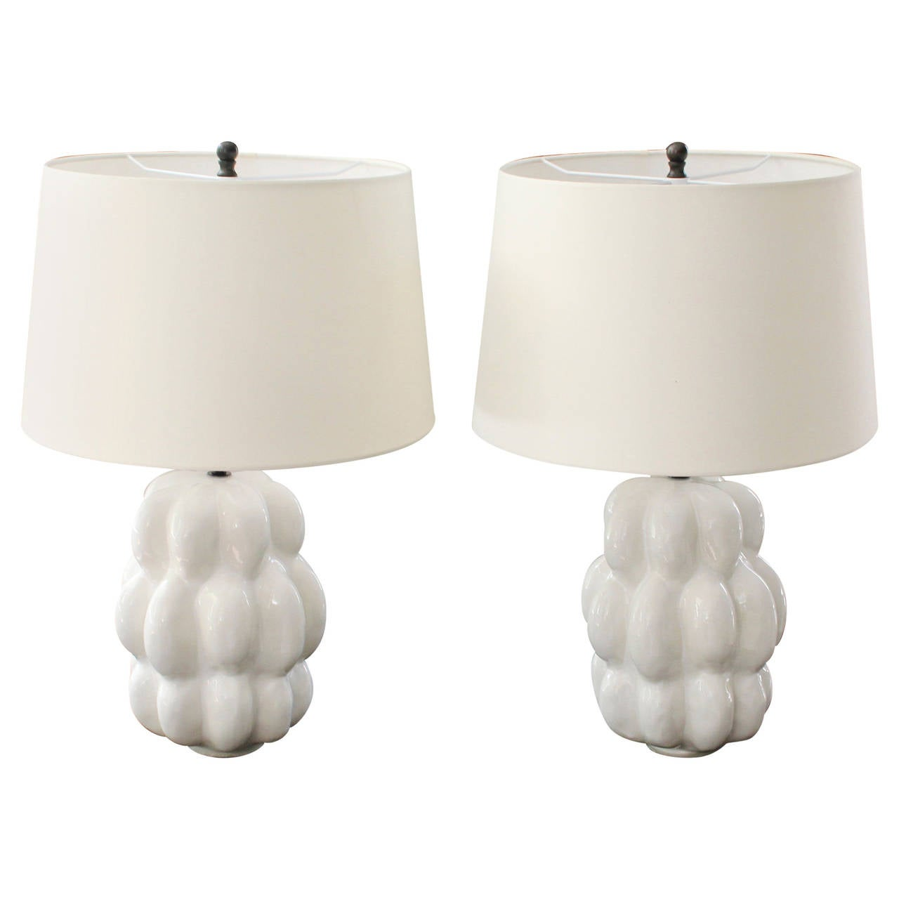 this pair of white ceramic table lamps is no longer available. Black Bedroom Furniture Sets. Home Design Ideas